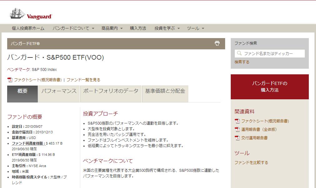 VOOの公式ウェブサイト